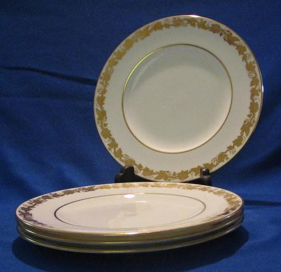 "Four Wedgwood Bone China ""Whitehall"" Salad Plates"