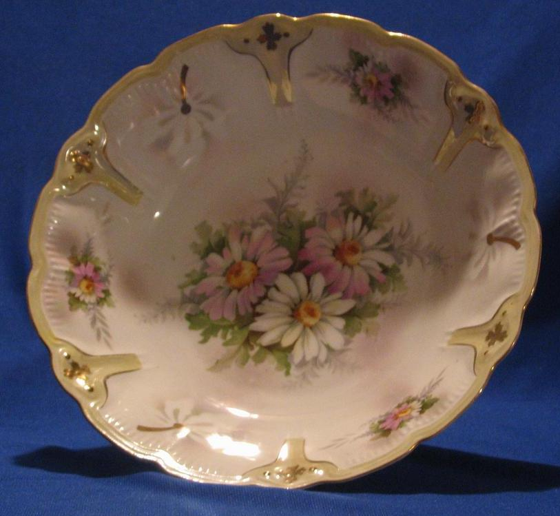 Large Transfer Decorated Center Bowl Made In Germany