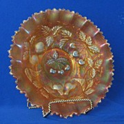 Northwood Three Fruits Marigold Bowl