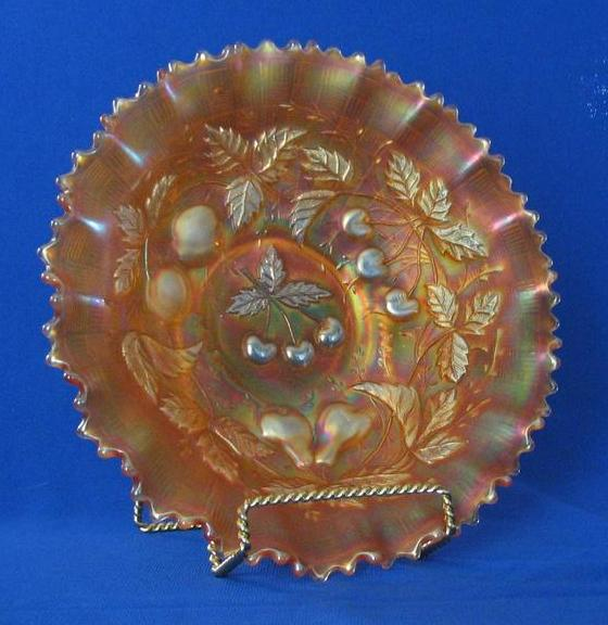 Northwood Three Fruits Marigold Bowl