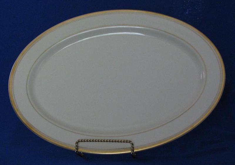 "Syracuse China Large Platter In The ""Monticello"" Pattern"