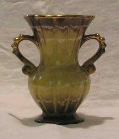 """West Germany"" Pottery Two Handled Vase"