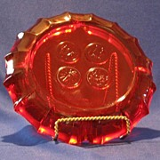 Fostoria Ruby Coin Ashtray