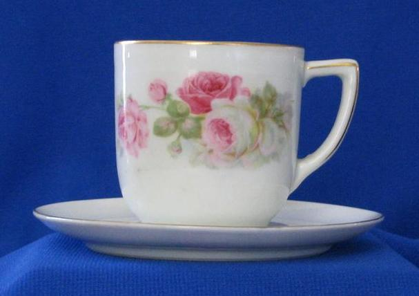 Rose Decorated Cup And Saucer Made In Germany