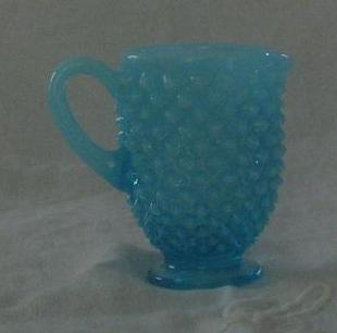 Fenton Blue Hobnail Mini Creamer