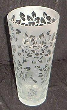 Torch Acid Etched Crystal Vase
