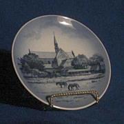 "Royal Copenhagen ""Lugomkloster Kirke"" Collector Plate"