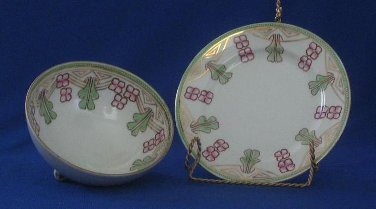 "Noritake ""Nippon"" Mayonnaise Bowl And Under Plate"