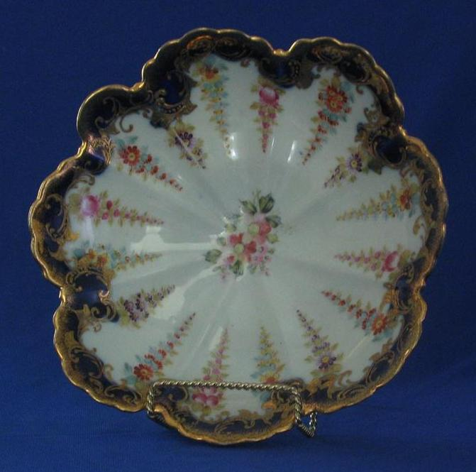 Old Paris Hand Painted Center Bowl