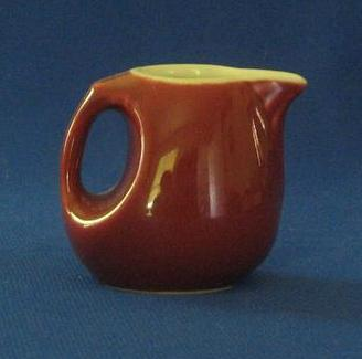 Miniature Burgundy Pottery Pitcher
