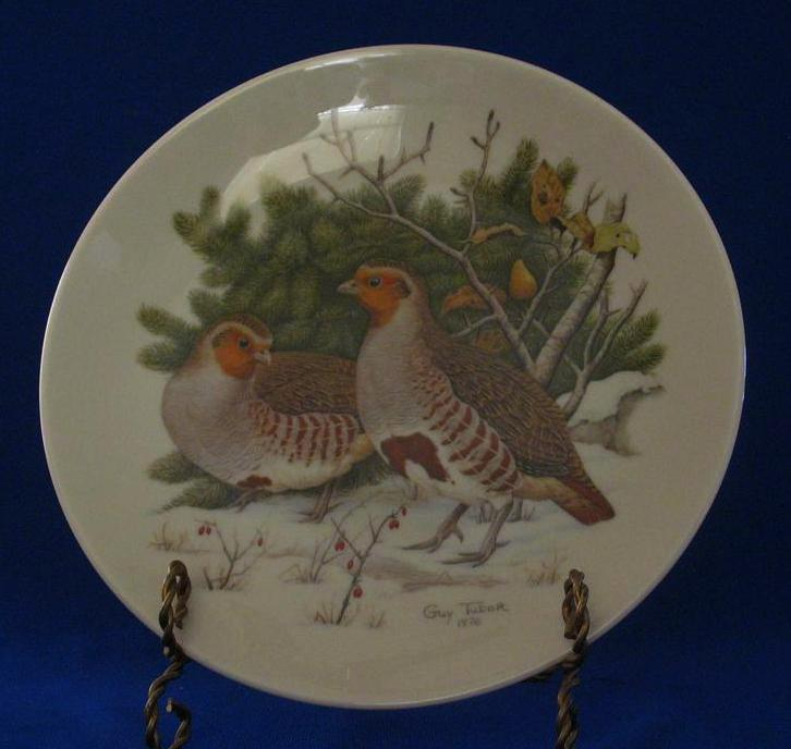 "Halbert's Inc. Christmas Plate, ""Partridges And Pear Tree"""