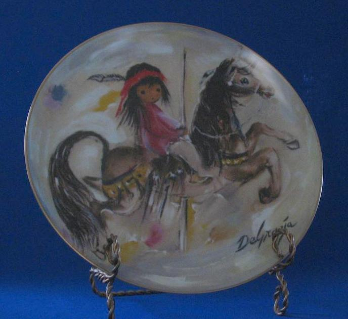 "De Grazia 1982 Plate Titled ""Merry Little Indian"" From Fairmont"