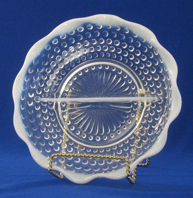 Moonstone Divided Relish Dish