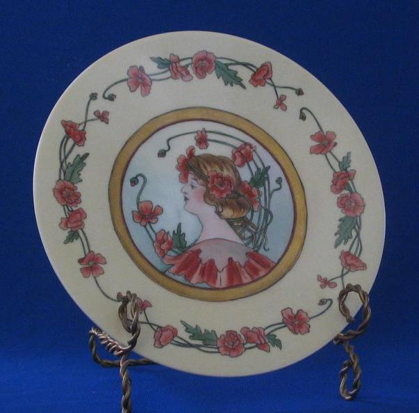 Jean Pouyat Hand Decorated Artist Signed Plate