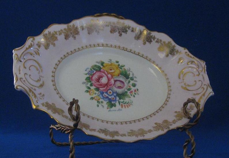 "Grosvenor Bone China ""Laura Lee"" Relish Dish"
