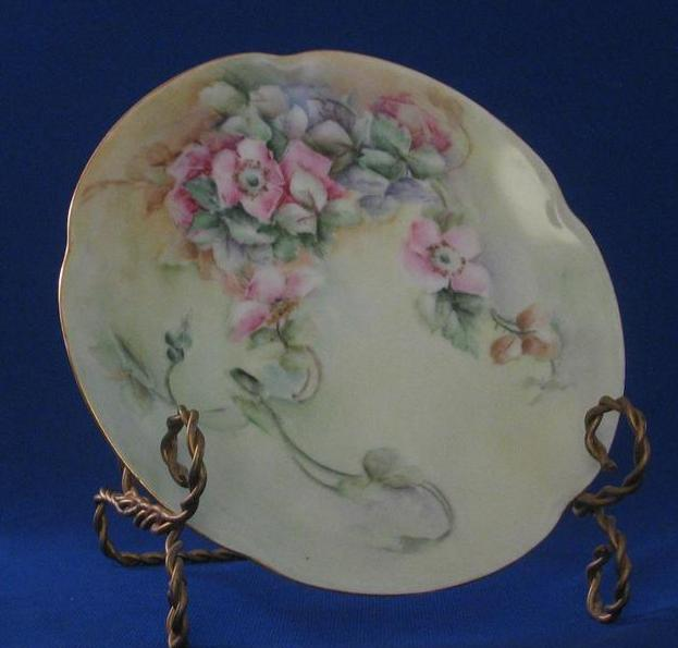 Jaeger And Company Wild Rose Hand Decorated Plate