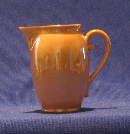 Gold Luster Creamer With Black Accents