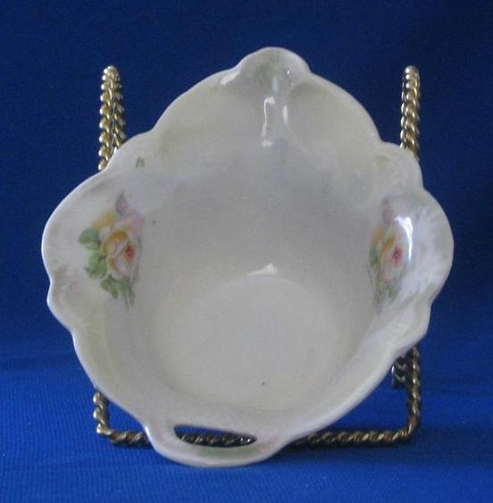 Porcelain Pierced Handle German Candy Dish