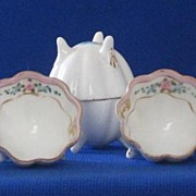 Set Of Six Nippon Nut Dish Shaped Salts