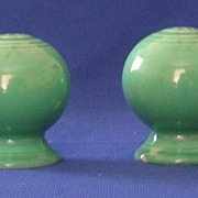Fiesta Green Salt And Pepper Shakers
