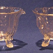 Heisey Dolphin Footed Open Sugar And Creamer