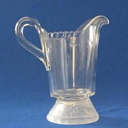 "Gillinder & Sons ""Frosted Lion"" Pattern Milk Pitcher"