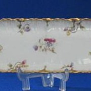 Limoges Dresser Tray With Flower Decoration