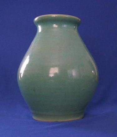 Hand Thrown Green Pottery Vase