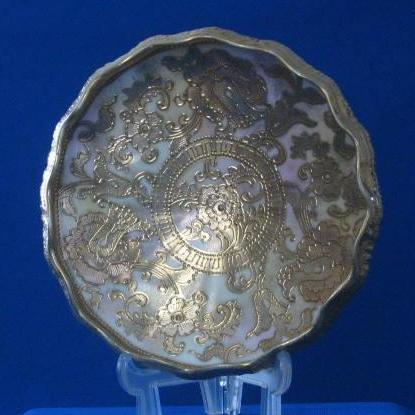 Footed Nippon Bowl With Maple Leaf Mark
