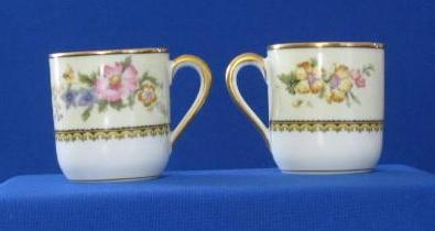 Pair Of Noritake Wildfleur Pattern Demitasse Cups