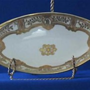 Hand Painted NIPPON Pierced Handle Relish Dish