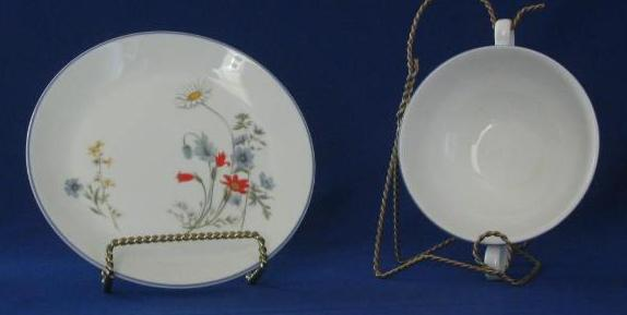 "Royal Albert ""Summer Breeze"" Cream Soup And Under Plate"