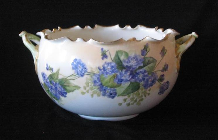 Willets Belleek Hand Painted Bowl