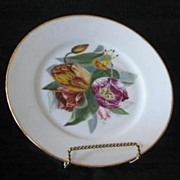 Tulip Hand Painted Artist Signed And Dated Porcelain Plate