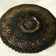 Fenton Amethyst Persian Medallion Pattern Iridescent Plate