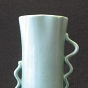 Red Wing Pottery Wavy Handled Vase