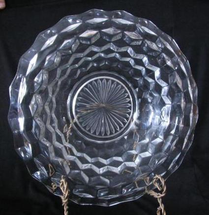 "Fostoria ""American"" Pattern Rolled Edge Center Bowl"