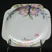 "Noritake ""Azalea"" Square Salad Plate Red Mark"