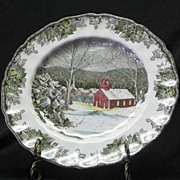 "Johnson Bros. ""The Friendly Village"" Pattern Dinner Plate"