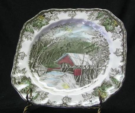 "Johnson Bros ""The Friendly Village"" Square Salad Plate"