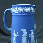 Wedgwood Jasperware Blue Syrup Pitcher