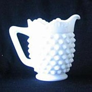Fenton Hobnail Milk Glass Creamer