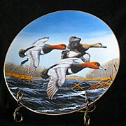 "W. S. George Collector Plate Titled ""Redheads"""