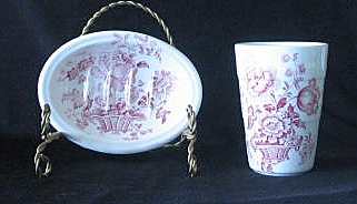 Charlotte Pattern Tumbler And Soap Dish By Royal Crownford