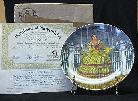 "Knowles Collector Plate Titled, ""Melanie"""