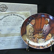 "Knowles Collector Plate Titled, ""Melanie Gives Birth"""