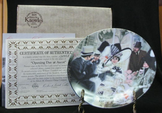 "Knowles Collector Plate Titled ""Opening Day At Ascot"""