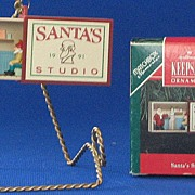 "Hallmark Keepsake Santa's Studio"" Ornament"