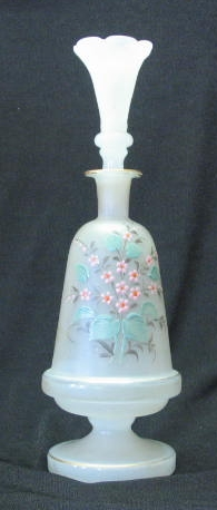 Bristol Glass Flower Decorated Scent Bottle