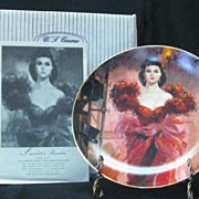 "W S George Plate Titled ""Scarlett's Resolve"""